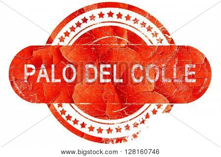 Palo del colle, vintage old stamp with rough lines and edges