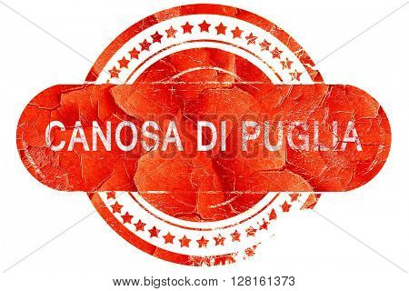 Canosa di puglia, vintage old stamp with rough lines and edges