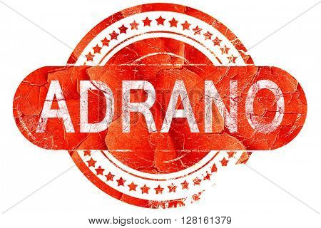 Adrano, vintage old stamp with rough lines and edges