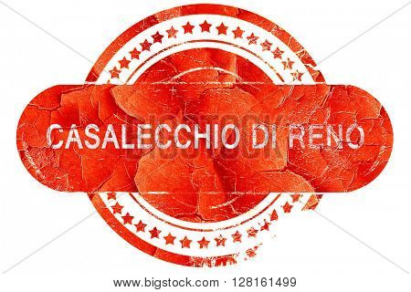 casalecchio di reno, vintage old stamp with rough lines and edge