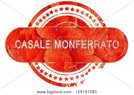 casale monferrato, vintage old stamp with rough lines and edges