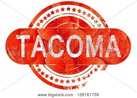 tacoma, vintage old stamp with rough lines and edges