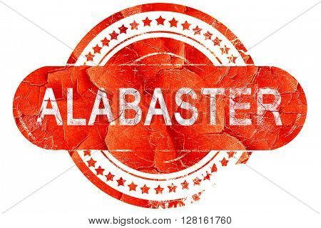 alabaster, vintage old stamp with rough lines and edges