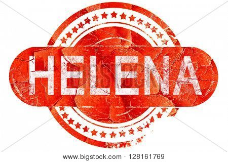 helena, vintage old stamp with rough lines and edges