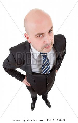 young businessman full body in a white background
