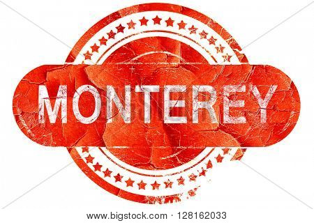 monterey, vintage old stamp with rough lines and edges