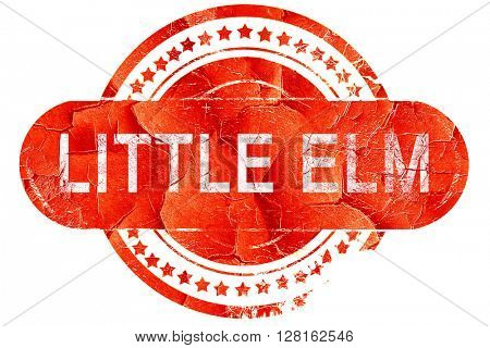 little elm, vintage old stamp with rough lines and edges
