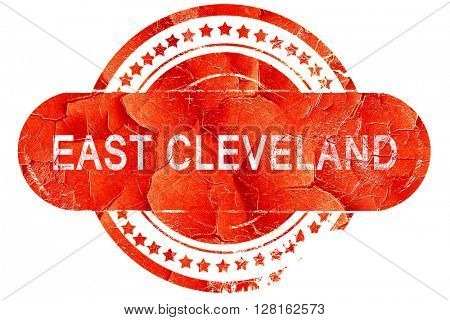 east cleveland, vintage old stamp with rough lines and edges