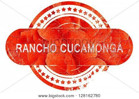 rancho cucamonga, vintage old stamp with rough lines and edges