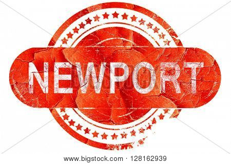 newport, vintage old stamp with rough lines and edges