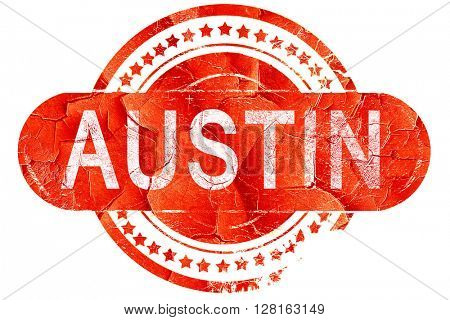 austin, vintage old stamp with rough lines and edges