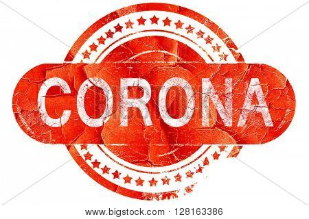 corona, vintage old stamp with rough lines and edges