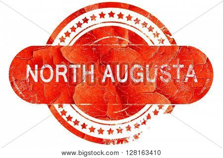 north augusta, vintage old stamp with rough lines and edges