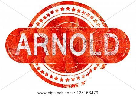 arnold, vintage old stamp with rough lines and edges