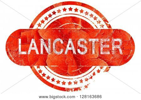 lancaster, vintage old stamp with rough lines and edges