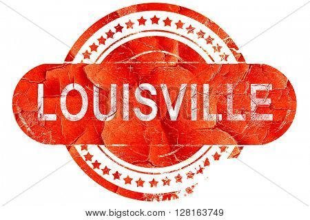 louisville, vintage old stamp with rough lines and edges