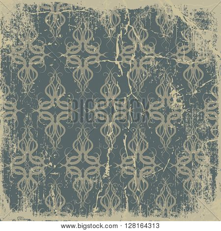vintage shabby background with classy patterns retro