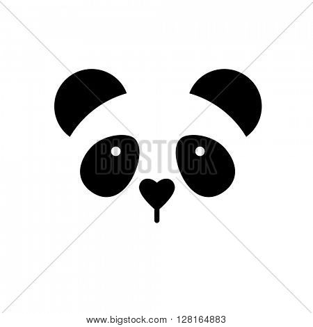 Panda logo. Isolated panda head on white background. Asian bear mascot idea for logo, emblem, symbol, icon. Vector illustration.