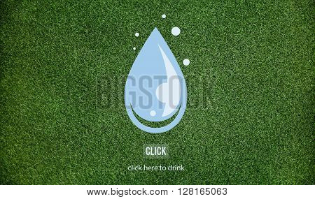 Drop Water Freshness Drink Environmental Concept