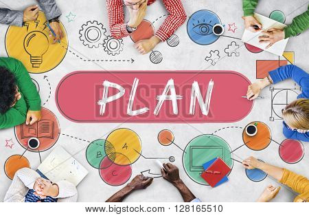 Plan Planning Vision Strategy Tactics Process Concept