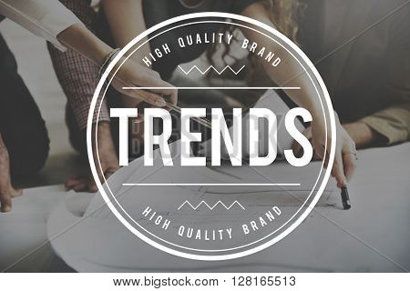 Trends Trendy Design Modern Style Concept