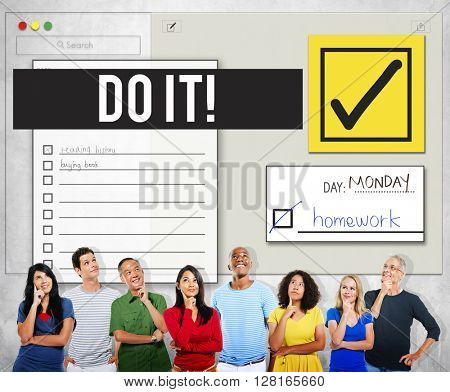 To Do List Organise Checklist Word Concept