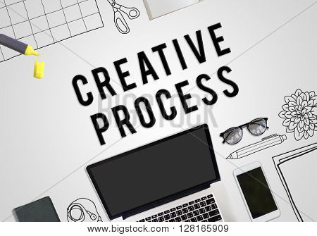 Creative Process Technology Graphic Concept