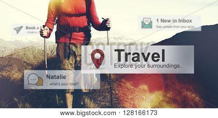 Travel Destination Journey Vacation Trip Concept
