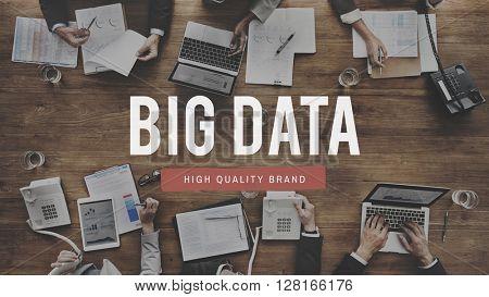 Big Data Server Information Technology Concept
