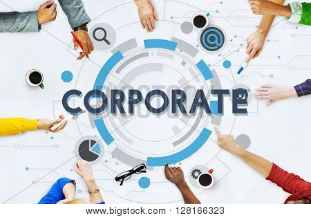 Corporate Collaboration Partnership Organization Concept