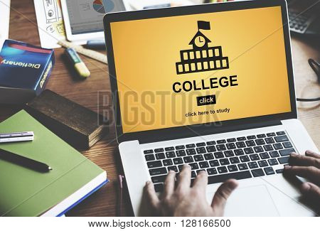 College Education Knowledge University Academic Concept
