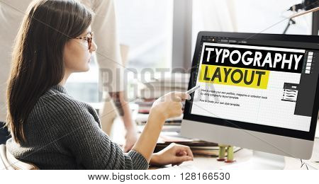 Typography Layout Responsive Design Creative Concept