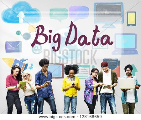 Big Data Cloud Digital Information Technology Concept