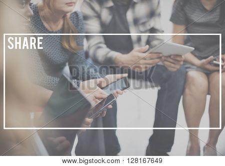 Share Feedback Networking Sharing Social Media Concept