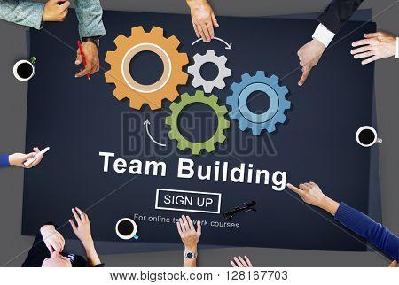Team Building Business Collaboration Development Concept