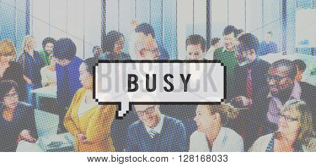 Busy Business Multitask Engaged Concept