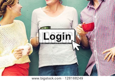 Login Online Digital Technology Click Concept