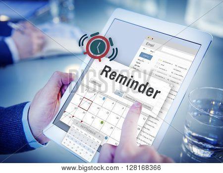 Reminder Planner Calendar Event Concept