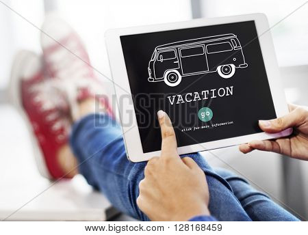Vacation Traveling Adventure Journey Destination Van Concept