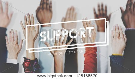 Support Collaboration Assistance Aid Cooperation Concept