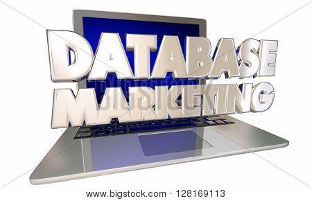 Database Marketing Customer Records Information Targeting Computer Laptop