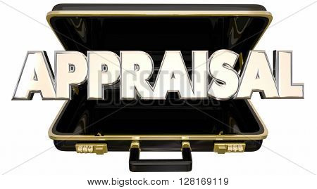 Appraisal Evaluation Assessment Rating Worth Value Price Cost Briefcase