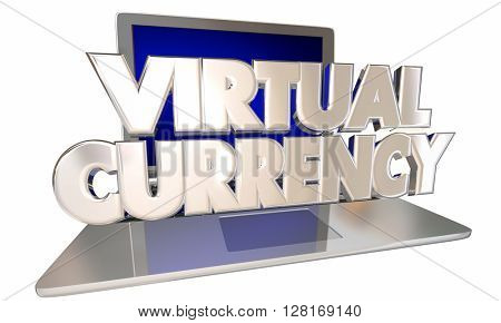 Virtual Currency Online Digital Cash Money Laptop Computer Words