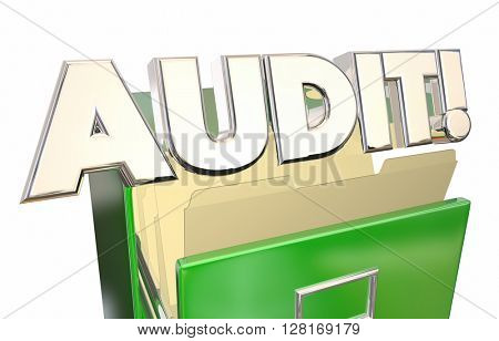 Audit Files Cabinet Tax Records Accounting 3d Illustration Word