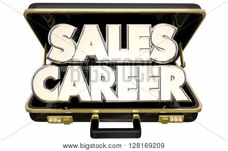 Sales Career Job Position Selling Business Briefcase 3d Words