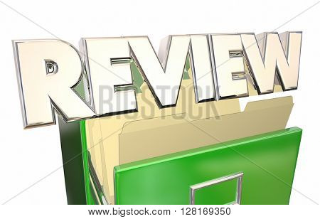 Review Documents Paperwork Archives 3d Illustration Word Evaluation