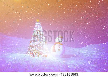 Christmas Holiday Night Winter Season Concept