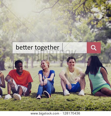 Better Together Connection Corporate Teamwork Concept
