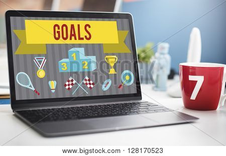 Business Strategy Goals Concept