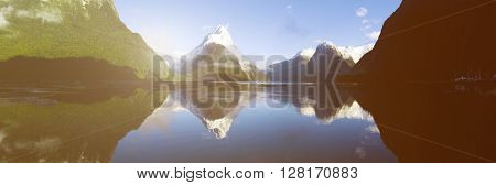 Milford Sound Fiordland New Zealand Concept